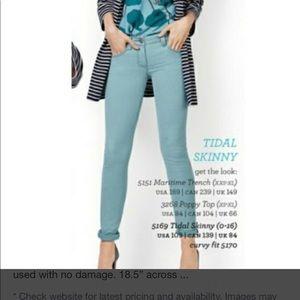 Cabi Skinny Jean - 4 teal , cotton /elastane